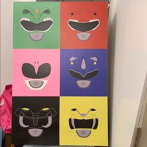 Collectors Edition Original Power Ranger Canvas